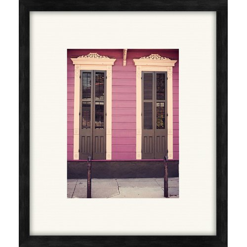 PTM Images Window in New Orleans Gicl e Framed Photographic Print