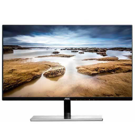 "Refurbished 27"" AOC I2779VH LED LCD IPS Slim Bezel Monitor HDMI, VGA 1080p Widescreen, Black"