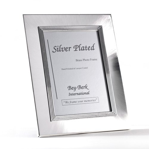 Bey-Berk Silver-Plated Brass 3.5 x 5 in. Photo Frame - Tarnish Proof