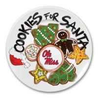 Ole Miss Rebels Cookies For Santa Plate
