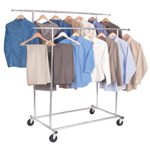 Richards Homewares Free-standing Storage Double Parallel KD Garment Rack by Overstock