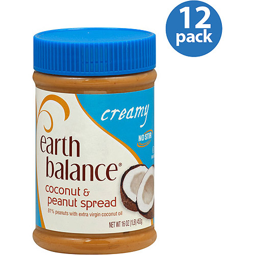 Earth Balance Creamy Coconut & Peanut Spread, 16 oz, (Pack of 12)