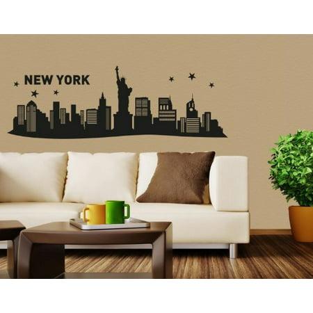 New York III City Skyline Wall Decal cityscape wall decal sticker mura