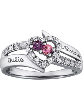 Personalized Family Jewelry Enchantment Promise Ring available in Sterling Silver, Gold and White Gold