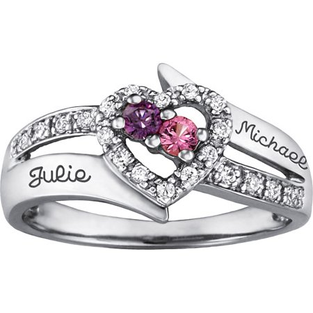 c7051b148f Keepsake - Personalized Family Jewelry Enchantment Promise Ring available  in Sterling Silver, Gold and White Gold - Walmart.com