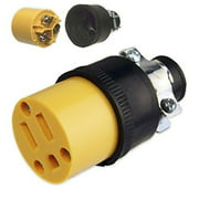Black Duck Brand Female Extension Cord Replacement Electrical Plug Ends (5 Pack)