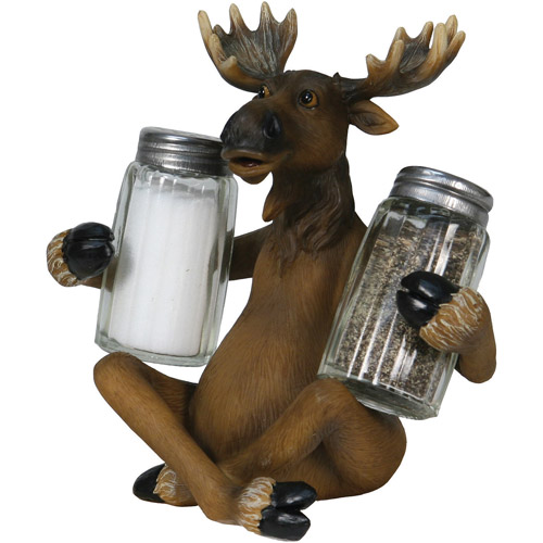 Rivers Edge Products Moose Glass Salt and Pepper Shaker Set
