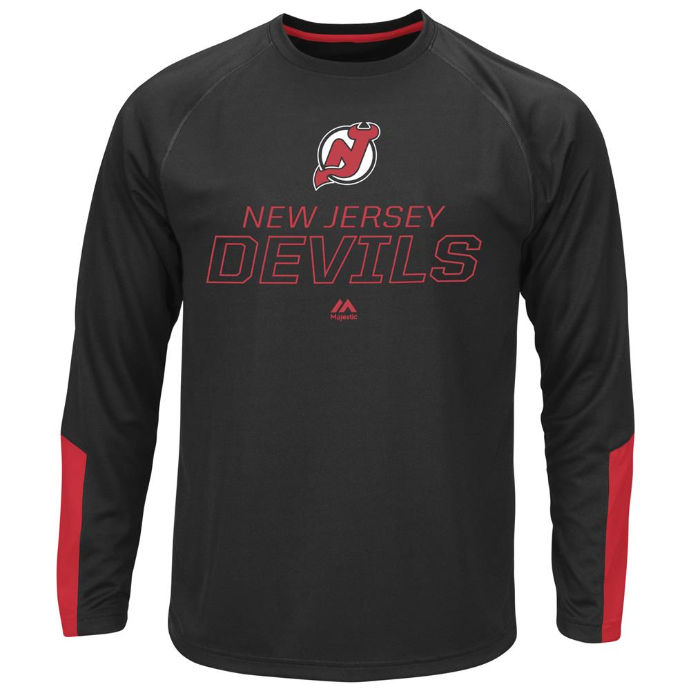 Men's Long Sleeve Synthetic New Jersey Devils Tee