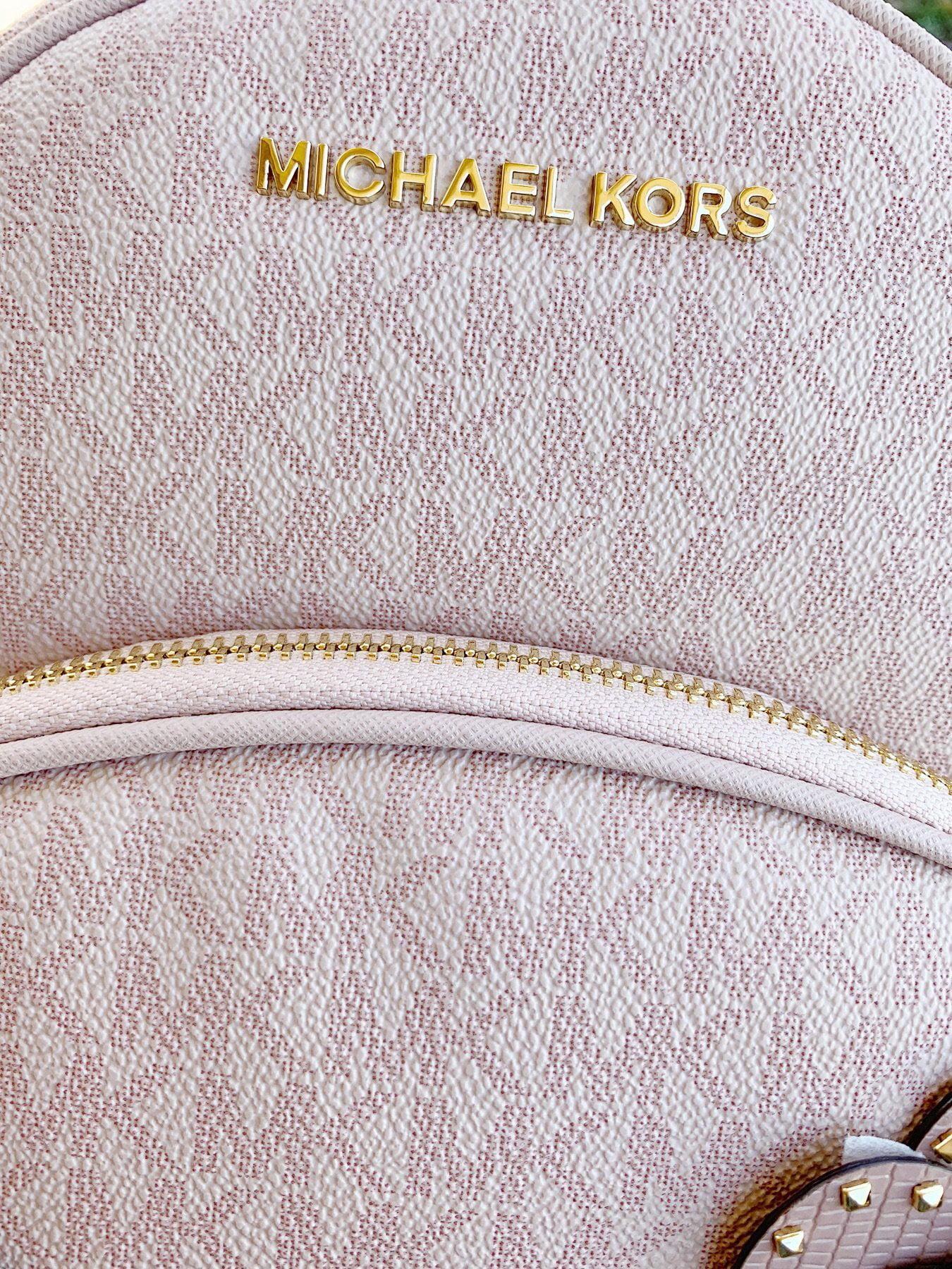 a1959277fafc Michael Kors - Michael Kors Abbey Medium Backpack Ballet Pink MK Signature  Flower School Bag - Walmart.com