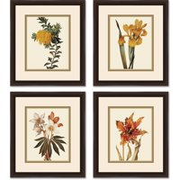 "Botanical Flower Set 14"" x 16"" Wall Art"