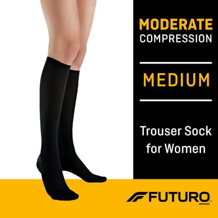 FUTURO Trouser Socks for Women Moderate (15-20 mmHg), Medium Blend Trouser Sock