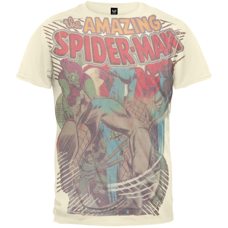 Spider-Man - Villain Battle Subway Soft T-Shirt