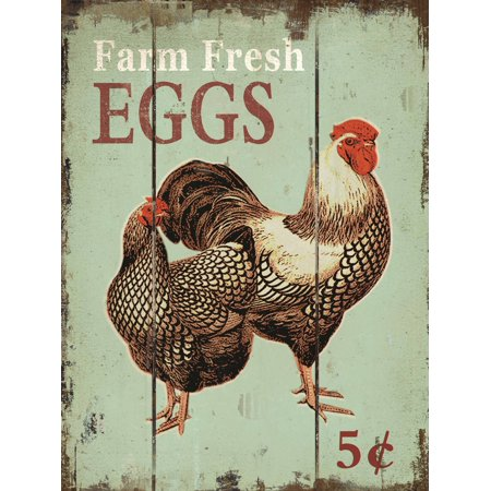 "Barnyard Designs Farm Fresh Eggs Retro Vintage Wood Plaque Bar Sign Country Home Decor 15.75"" x 11.75"""