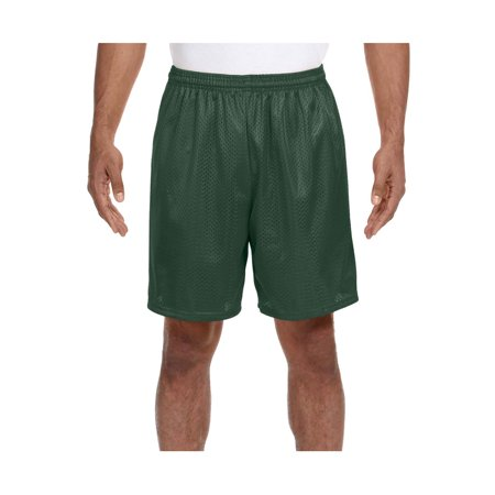 A4 Men's Comfort 7 inch Lined Tricot Mesh Wicking Short, Style