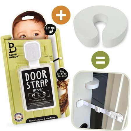 Door Buddy Child Proof Door Lock Plus Finger Pinch Guard Foam Door Stopper for Baby Proofing Bump Proof Door Lock