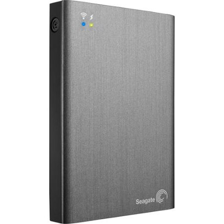 Seagate STCK1000100 Wireless Plus 1TB Mobile Storage with Built-In Wi-Fi (Gray)