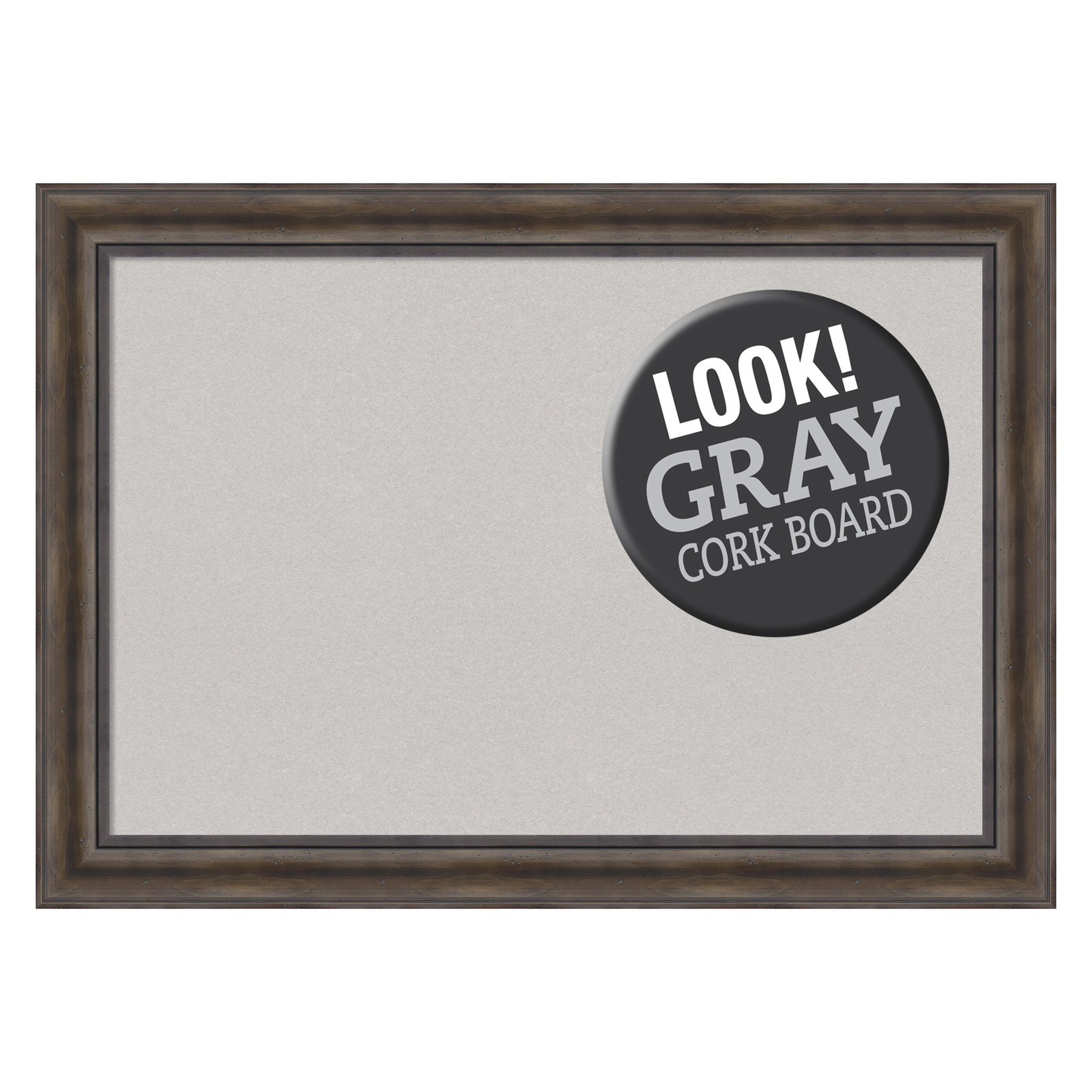 amanti art rustic pine framed cork board