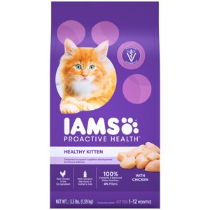 Iams Proactive Health Healthy Kitten With Chicken Dry Cat Food, 3.5 Lb