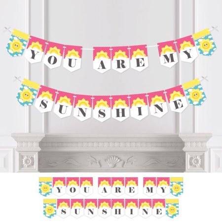 You Are My Sunshine - Sunshine Themed Party Bunting Banner - Party Decorations](Paris Themed Party Decorations)