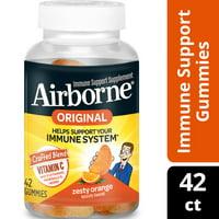 Airborne Immune Support Gummies with Vitamin C, Zesty Orange - 42 Gummies