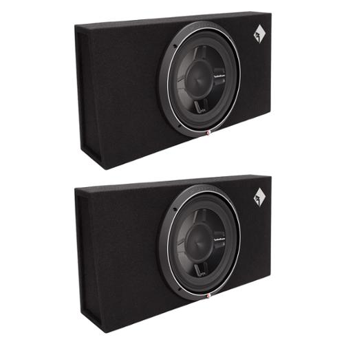 "2) Rockford Fosgate P3S-1X12 12"" 1600W Shallow Loaded Subwoofers Sub Enclosures"