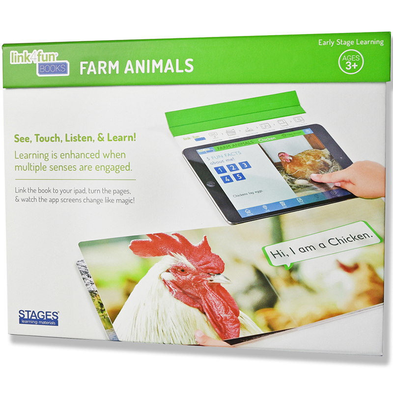Stages Learning Materials SLM1002 Link4Fun Farm Animals Book