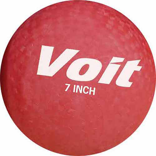 "Voit 7"" Playground Ball, Red"