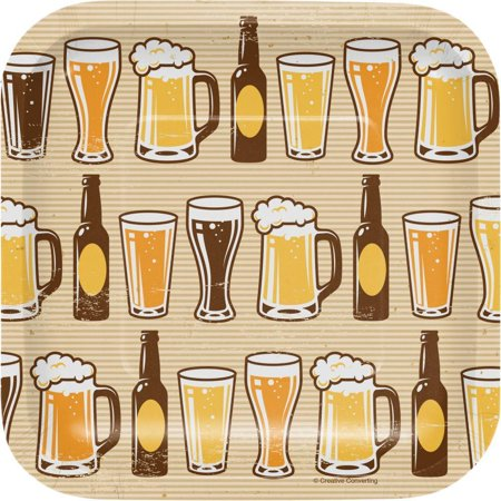 Creative Converting Cheers And Beers Appetizer Plates, 8 (Best Appetizers With Beer)