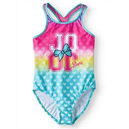 JoJo Rainbow Heart One-Piece Swimsuit (Little Girls & Big Girls) - Hurley Girls Swimwear