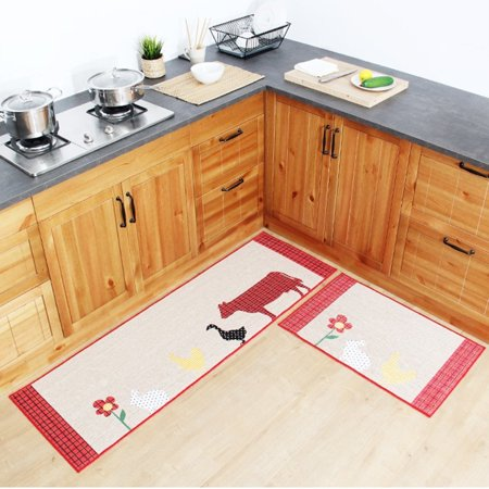 Fadfay Countryside Animals Kitchen Rug Set,kitchen Floor Rug ...