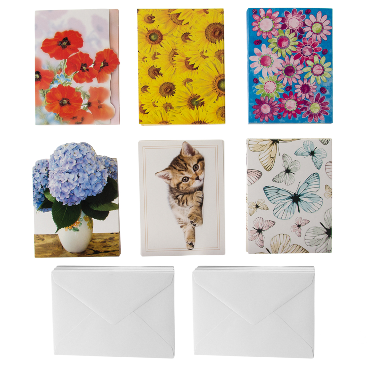 60ct All Occasion Assorted Blank On The Inside Gift Cards & Envelopes Designer Greetings Notes Bulk Lot  4x6