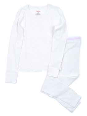 Hanes Girl's X-Temp Thermal Waffle Underwear Set with FreshIQ (Little Girls & Big Girls)