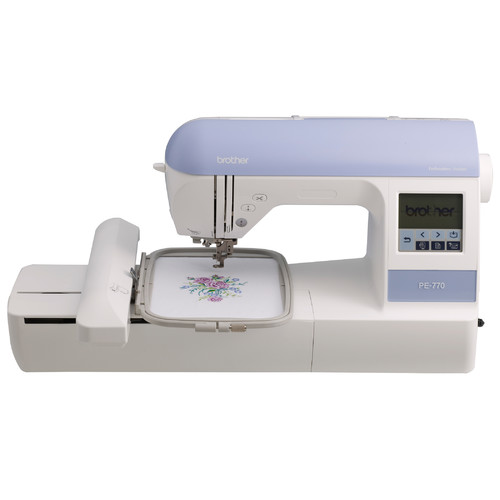 """Brother PE770 Computerized Embroidery Machine with 5 x 7"""" Hoop Size"""