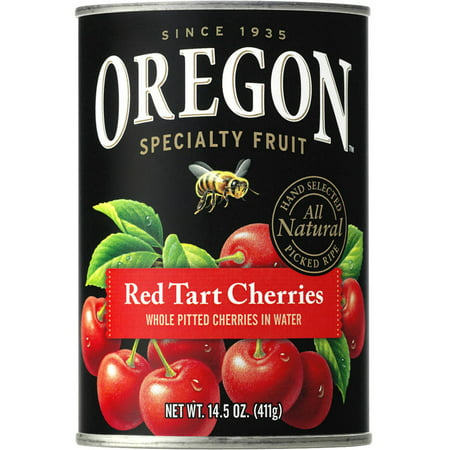 Oregon Fruit Products Pitted Red Tart Cherries In Water  14 5 Oz Can