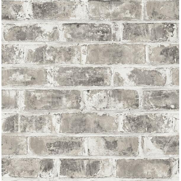 Brewster Jomax Grey Warehouse Brick Wallpaper Walmart Com Walmart Com