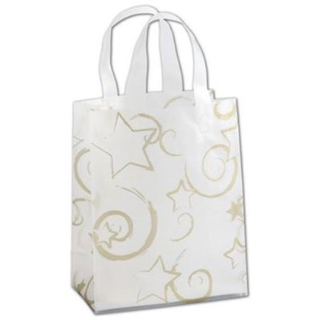 268 080410 Strc Stars Clear Frosted Flex Loop Shoppers  8 X 4 X 10