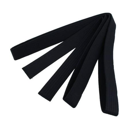 Adidas Karate Belts (Martial Arts Karate Taekwondo Cotton Blend Sporty Band Belt Black 2.8M)