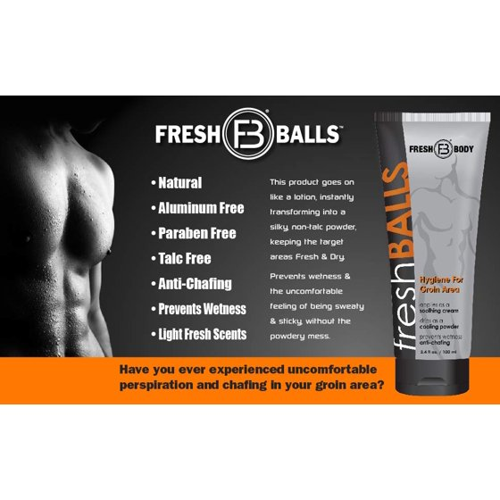 Fresh Body, Fresh Balls Lotion Solution for Men, 3 4 fl oz