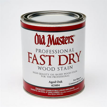 Old Masters 1835446 Professional Semi-Transparent Aged Oak Oil-Based Fast Dry Wood Stain, 1 qt. - Case of