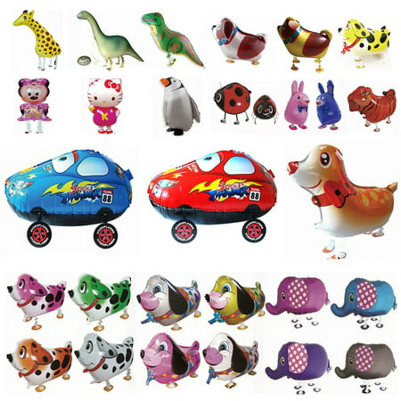 Walking Pet Foil Balloons Animal Helium Airwalker Kids Party Toys Zoo Farm Pets - Blow Up Balloons Without Helium