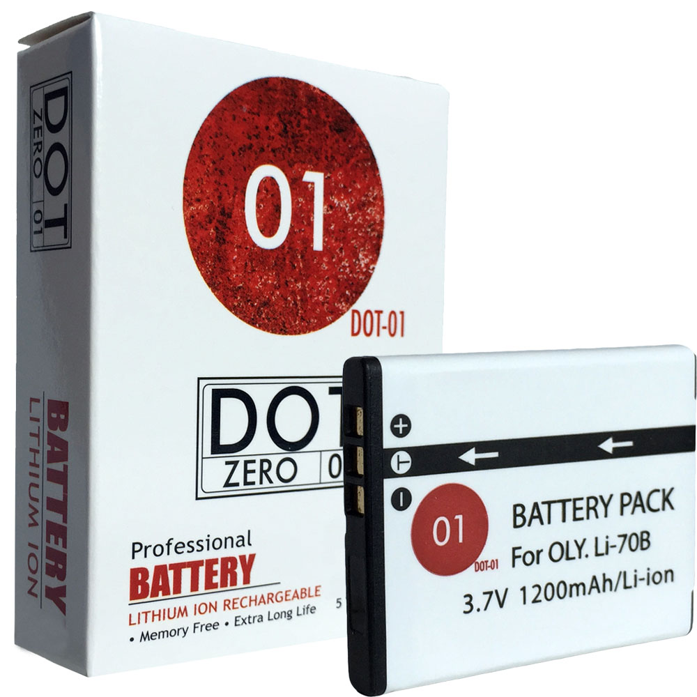 DOT-01 Brand 1200 mAh Replacement Olympus LI-70B Battery for Olympus VG-110 Digital Camera and Olympus LI70B