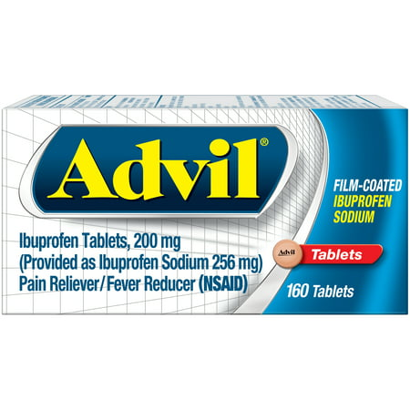 Advil Film-Coated (160 Count) Pain Reliever / Fever Reducer Tablet, 200mg Ibuprofen, Temporary Pain (Advil Coated Tablets)