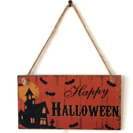 Mosunx Happy Halloween Wooden Pendant Door Decorations Hanging Party Decoration](Happy Halloween Miami Dolphins)