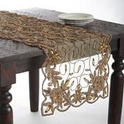 Saro Hand Beaded Design Table Topper or Table Runner