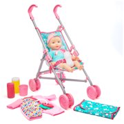 Kid Connection Baby Doll Stroller Set, 10 Pieces
