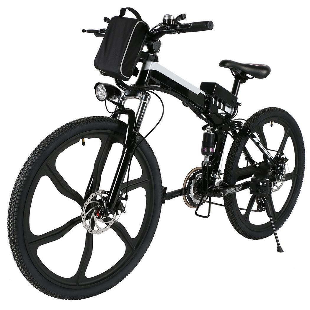 Last Clearance! Ancheer 26'' Inch Folding  Electric Mountain Bicycle Power with Big Capacity Lithium-Ion Battery FSBR