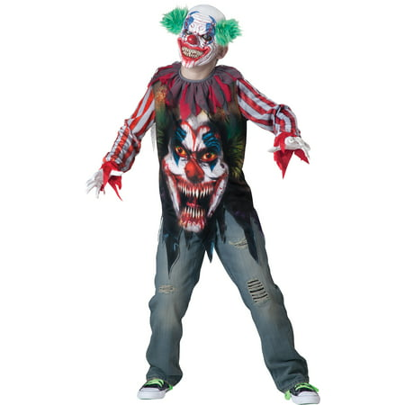 Big Top Terror Boys Child Halloween Costume, One Size, XS (6) - De Terror De Halloween