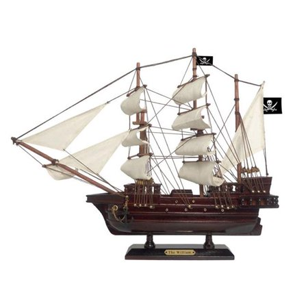 Wooden Calico Jack's The William White Sails Pirate Ship Model 15