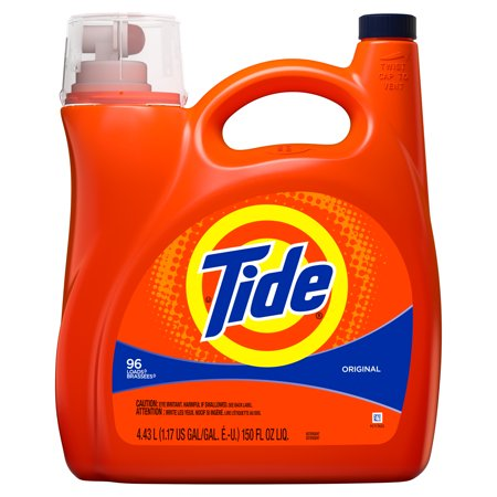 Tide Original Non-HE, Liquid Laundry Detergent, 150 Fl Oz 96