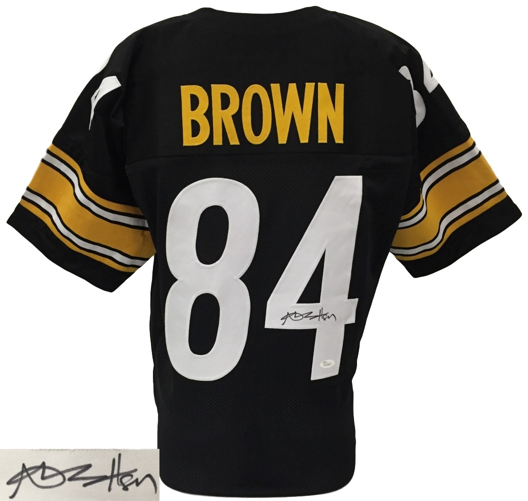 Antonio Brown Signed Custom Black Pro-Style Football Jersey JSA